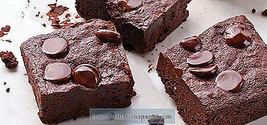 Brownies de chocolate triplos sem glúten