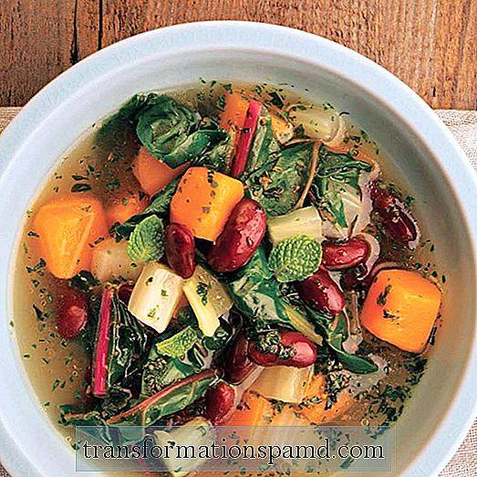 One-Pot Meal: Varm opp suppe med Butternut Squash & Chard